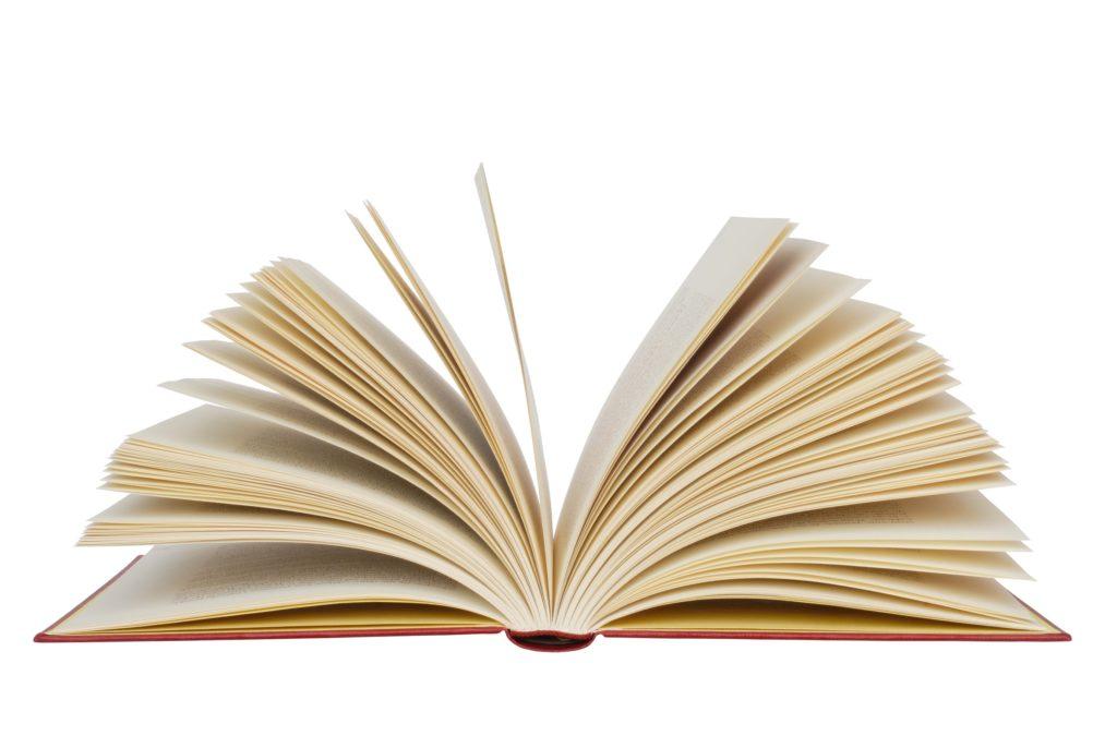Libro aperto per la bibliografia